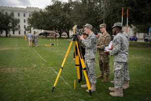 Engineering cadets participate in laboratory work in LeTellier Hall at The Citadel in Charleston, South Carolina on Monday, February 10, 2020. (Photo by Cameron Pollack / The Citadel)