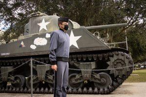 Knob Billy Workman, a sixth generation Citadel Cadet, poses for a portrait at The Citadel in Charleston, South Carolina on Friday, November 20, 2020. (Photo by Dashawn Costley / The Citadel)