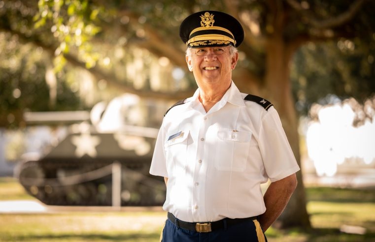 Electrical and Computer Engineering Professor Johnston W. Peeples '70 poses for a portrait at Grimsley Hall at The Citadel in Charleston, South Carolina on Tuesday, December 1, 2020. Nova Technologies announced the endowment of a new scholarship in Dr. Peeples' name to support Cadets with demonstrated financial need who are majoring in Electrical or Computer Engineering at The Citadel. The amount of the initial endowment is $500,000. (Photo by Cameron Pollack / The Citadel)