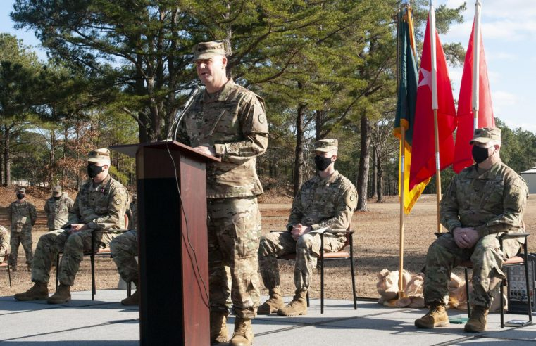 The 4-118th Combined Arms Battalion, SC National Guard, honored U.S. Army Lt. Col. Joseph B. Bulwinkle, 4-118th Combined Arms Battalion outgoing commander, and welcomed U.S. Army Lt. Col. Brandon T. Pitcher, during the 4-118th Combined Arms Battalion change of command. U.S. Army National Guard photo by Sgt. 1st Class Kimberly D. Calkins, SC National Guard