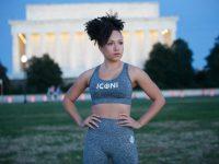 Active wear Iconi model wearing gear by Citadel alumna Angel Johnson