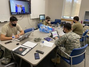 The Citadel began a three-day competition on April 8 hosted by the National Security Agency which pits the country's military colleges and service academies against each other in intense cyber security simulations. Cadets began the first day with several virtual challenges. The Citadel/Provided