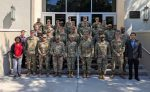 Members of the SC National Guard pose for a group photo with members of The Citadel Dept. of Defense Cyber Instute