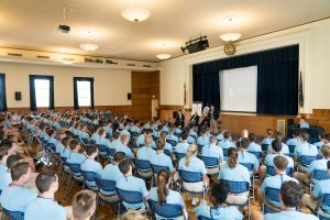 Citadel Success Institute students listen to three Vietnam War area Medal of Honor recipients.