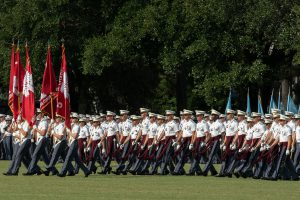South Carolina Corps of Cadets military review parade on September 28, 2018