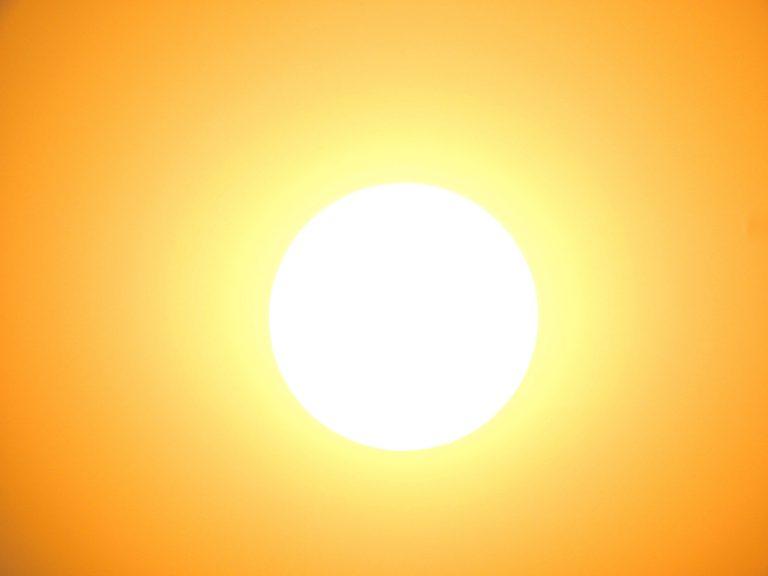 unsplash photo of bright hot sun