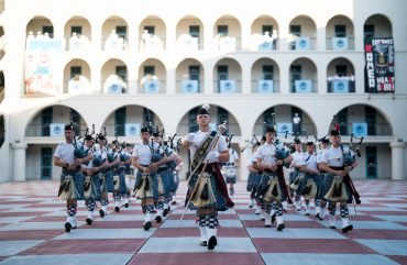 Citadel pipes band playing on Parents Weekend 2021